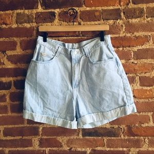 VTG Riders Cuffed Mom Shorts High Waist High Rise